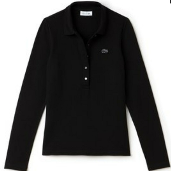 3b127f84 Lacoste Slim Fit Womens Long Sleeve Pique Polo